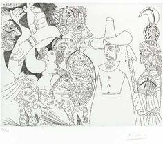 Pablo Picasso, Télévision: Quaker, peau-rouge, écuyère