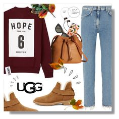 """""""The New Classics With UGG: Contest Entry"""" by mari-meri ❤ liked on Polyvore featuring Studio Concrete, Acne Studios, UGG, Old Navy, Casetify, Victoria Beckham, ECCO and ugg"""
