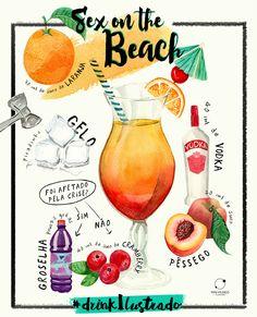 Ilustrações e design do segundo post da série de Drinks Ilustrados para o site www.minimundoilustrado.com.br. Ilustrado por Schi Martins