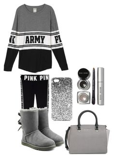 """""""For You Pink Lovers"""" by pinkypopsx ❤ liked on Polyvore featuring UGG Australia, MICHAEL Michael Kors, Topshop and Bobbi Brown Cosmetics"""
