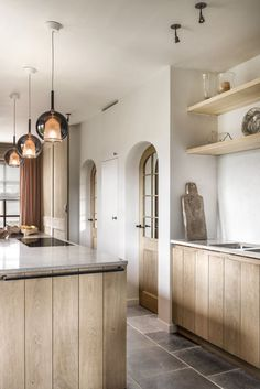 Custom made kitchen design - Lefèvre Interiors Belgium www. House Design, Interior Design Kitchen, Interior Design, House Interior, Wood Doors Interior, Home, Interior, Kitchen Design, Home Decor