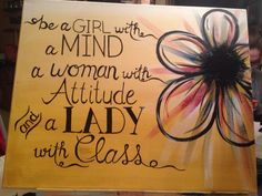 Be a girl...