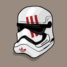 adidas x star wars stormtrooper helmet  #daleillustration