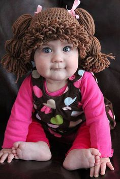 cabbage patch doll hat inspiration - SO CUTE!!! If I ever have a niece, she will have this!!