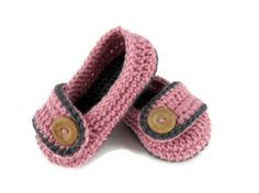 Toddler Slippers, Shoes, Crochet, Slip Ons, Made to Order on Etsy, $26.00 - so cute!!!