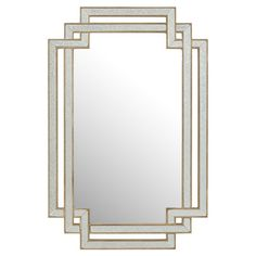 Recalling Art Deco inspirations, the interlocked frame of this wall mirror brings a sophisticated touch to your decor.  Product: Mirr...