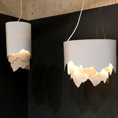 Helsinki Design Week Design Takes Over the Finnish Capital - Design Milk Ceiling Light Design, Ceiling Decor, Ceiling Lamp, Modern Lighting Design, Interior Lighting, Cool Lighting, Luminaire Design, Lamp Design, Paper Light
