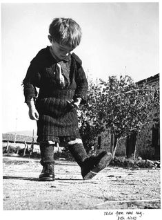 CHIM (DAVID SEYMOUR): [ELEFTERIA WITH HER NEW PAIR OF SHOES, OXIA, GREECE]