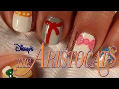 Aristocats Inspired Nail Art - YouTube
