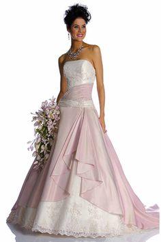 Wholesale Wedding Dress - Buy Hot Sale Color Accent Strapless ...
