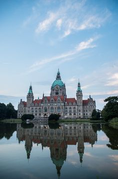 Town Hall on Maschsee Lake ~ Hannover, Germany. Please like http://www.facebook.com/RagDollMagazine and follow @RagDollMagBlog @priscillacita