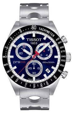 Tissot Men's T0444172104100 PRS516 Blue Chronograph Dial Watch Tissot, http://www.amazon.com/dp/B003RITVFW/ref=cm_sw_r_pi_dp_UQ8Eqb1EQBWNW