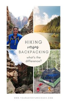 If you're just starting to explore the outdoor world, you might be wondering what the difference is between backpacking and hiking, hiking and trekking, or backpacking and mountaineering. When it comes to backpacking vs hiking, which is better? In this post, we'll dive into the differences between hiking, backpacking, and mountaineering, what the terms mean, and gear that's specific to each one. Thru Hiking, Go Hiking, Hiking Tips, Ultralight Backpacking, Backpacking Tips, Day Hike, Day Trip, Tourism Management, Hiking Essentials