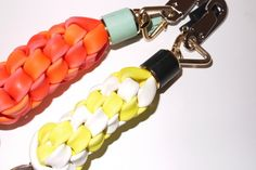 These remind me of the plastic weave keychains I used to make back in the day.