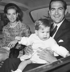 King Constantine II of Greece with his wife, Queen Anne Marie, and their son, Crown Prince Pavlos