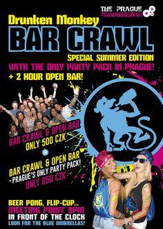 drunkenmonkey.cz   Prague Bar Crawl