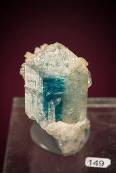 Euclase - Equador, Borborema Mineral Province, Rio Grande do Norte, Brazil Size: 1.7 × 3.0 × 2.8 cm