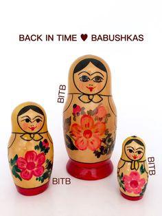 Vintage Miniature Mari El Russian Doll by BackInTimeBabushkas