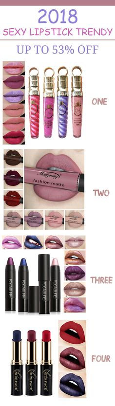 [ UP TO 53% OFF ] 2018 Sexy lipstick trendy. Fashion lipstick you need in daily and party time. #fashion #daily #party