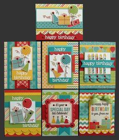Happy Happy Birthday Card set. link doesn't go there.  saving for ideas