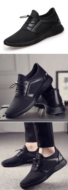 Men Mesh Increased Breathable Lace Up Sport Casual Shoes http://www.99wtf.net/young-style/urban-style/modern-mens-hat-style-urban-fashion-2016/