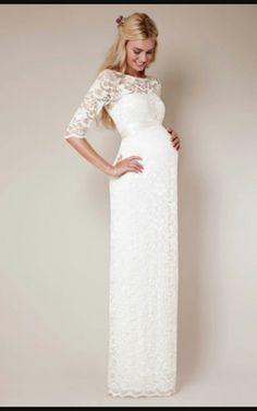 bridesmaiddresses Long Red Lace and Chiffon Empire Waist Maternity ...