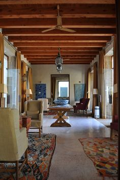 The former fortress halls of @CapRocat have become relaxing areas #Mallorca #Spain #hotel