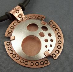 Sterling Silver and Copper Mixed Metal Mod Circles by lpjewelry