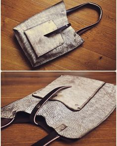 upcycled leather into s boho chic simple tone. Love the color and distress Leather Purses, Leather Handbags, Leather Wallet, Leather Gifts, Leather Bags Handmade, Boho Bags, Wallets For Women Leather, Leather Projects, Cloth Bags