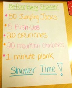 Ab workout before shower ☻. ☺. ☂  ✿