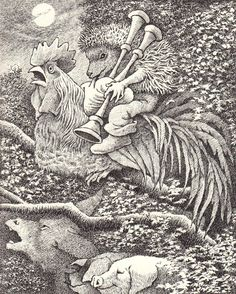 Where the Wild Things Really Are: Maurice Sendak Illustrates the Fairy Tales of the Brothers Grimm – Brain Pickings Maurice Sendak, Gravure Illustration, Children's Book Illustration, Grimm Stories, Yule, Brothers Grimm, Grimm Fairy Tales, Ink Illustrations, Les Oeuvres