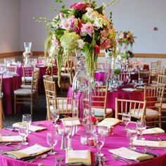 Natural chiavari chairs and pink worked out perfectly!