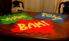 Batman Party signs