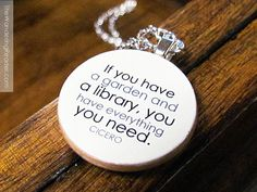 Cicero If you have a garden and a library you have by BookishCharm, $22.50..... I am so in love with this shop!
