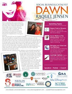 dawn-raquel-jensen-speaker-kit-social-media-strategy-digital-marketing-speaking-coaching by Dawn Jensen via Slideshare @virtualoptions @Dawn Jensen