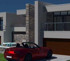 2 storey House Design, modern house plan, 4 car garage house design, contemporar… - Home & DIY 6 Bedroom House Plans, 4 Bedroom House Designs, Garage House Plans, Car Garage, Modern House Floor Plans, Home Design Floor Plans, Contemporary House Plans, Double Storey House Plans, House Plans South Africa