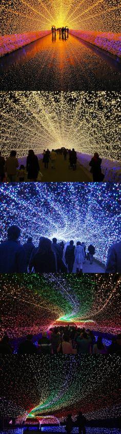 Beautiful Light Tunnels in Japan