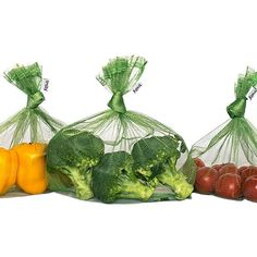Reusable shopping bags for fruit and vegetable shopping Saving the Planet One Plastic Bag at a Time.