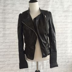 Zara Faux Leather Jacket Great condition- no damages. Feel free to make an offer! No trades Zara Jackets & Coats