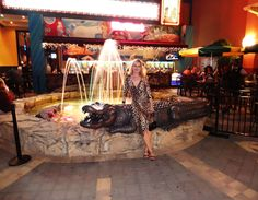 With the Seminole Casino Croc!