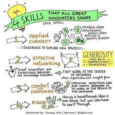 4 Skills That All Great Innovators Share  #SocialMedia #Innovation #Skills #SMM #Marketing #SocialMediaMarkeging