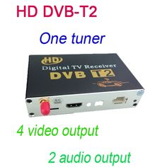 (68.00$)  Buy here - http://ai1dx.worlditems.win/all/product.php?id=32742235868 - HD DVB-T2 One Tuner Digital TV receiver 4 Video Output 2 Audio Output Fit All Car dvd M-689 just sell with our car dvd together