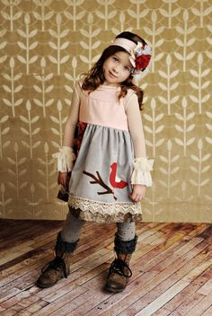 Gingersnaps Kids - Persnickety Nellie Bird Dress (sz 12mo-7) FALL 2012 PREORDER, $104.00 (http://www.gingersnapskids.com/products/persnickety-nellie-bird-dress-sz-12mo-7-fall-2012-preorder.html)