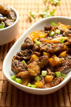 Mushroom Manchurian - Spicy Indo-Chinese recipe of stir fried mushrooms with veggies