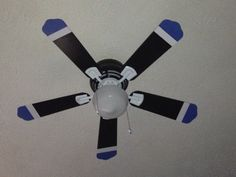 Easy ceiling fan makeover for teen boy's room.