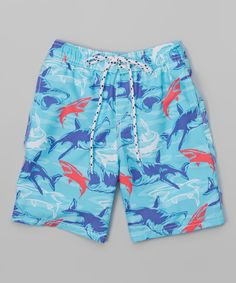 Look at this Aquarius Shark Boardshorts - Toddler & Boys on #zulily today!