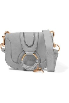 c7374dc040cc SEE BY CHLOÉ Hana mini textured-leather and suede shoulder bag.  seebychloé