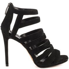Ria - Black Suede by Steven by Steve Madden