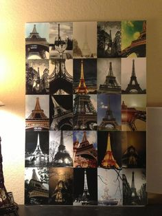 Cute, awesome & super easy DIY project! Could do one of places we want to travel for the dorm room!