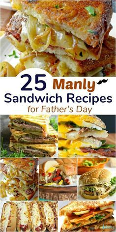 25 Manly Sandwich Recipes for Father's Day day dinner menu 25 Manly Sandwich Recipes for Father's Day Hot Sandwich Recipes, Best Lunch Recipes, Sandwiches For Lunch, Brunch Recipes, Dinner Recipes, Easy Recipes, Brunch Ideas, Gourmet Sandwiches, Fathers Day Dinner Ideas